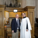 With Simon Johnson, Organist of St. Paul's Cathedral. London