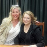 """Bonnie with a favorite author: Deborah Harkness (""""A Discovery of Witches"""")"""