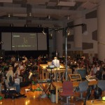 """At Todd-AO scoring stage (RIP): 96 members of a double string orchestra for """"Next"""""""