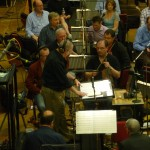 """Answering questions from the orchestra, """"Jack the Giant Slayer"""", Abbey Road, 2012"""