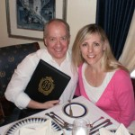 At the exclusive Club 33 at Disneyland, Anaheim, CA…