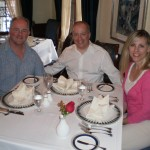 At Club 33 at Disneyland, Anaheim, CA, with conductor Kevin Purcell, AUS