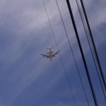 The last flight of space shuttle Endeavor flying over the Jet Propulsion Laboratory in Pasadena, 1/2 mile from our house. What an incredible and inspiring sight!