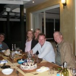 """<font size=""""1"""">On my birthday, 2010, in Sydney with the wonderful Australian conductor Alex Briger, Mrs. Frank Celata and daughter, at the home of the inspired film and concert composer Christopher Gordon (far left)…</font>"""