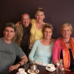 """<font size=""""3"""">Breakfast in Sydney with the brilliant concert and film composer Christopher Gordon, wife Robin de Crespigny (author, """"The People Smuggler""""), and Janet Webb, Principal Flute, Sydney Symphony</font>"""