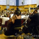 With the orchestra at Abbey Road